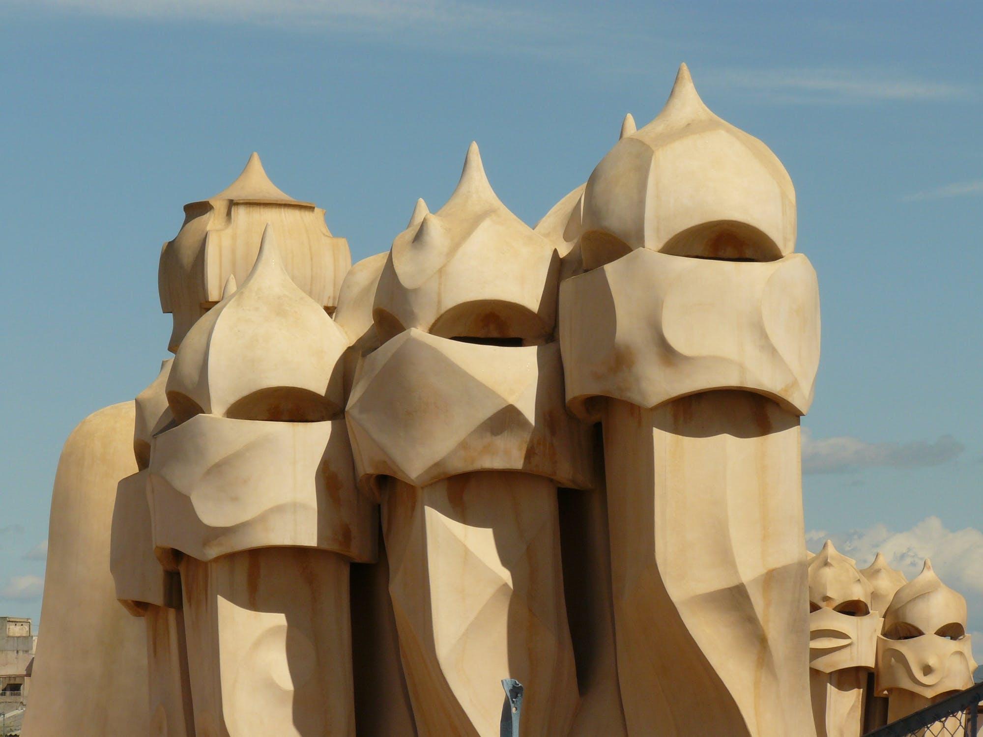Antoni Gaudi's Casa Mila Chimneys