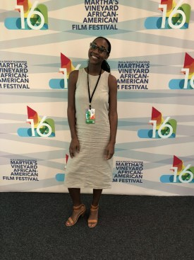 Laura Wise attending the African American Film Festival on Martha's Vineyard.
