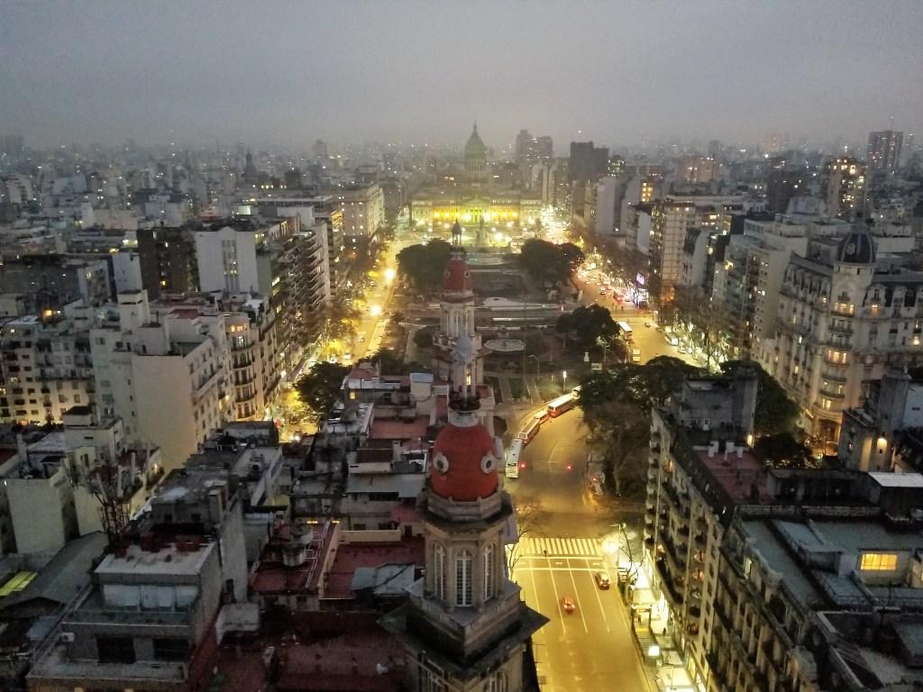View of Avenida de Mayo from the Barolo bldg. Photo: Ana Astri-O'Reilly