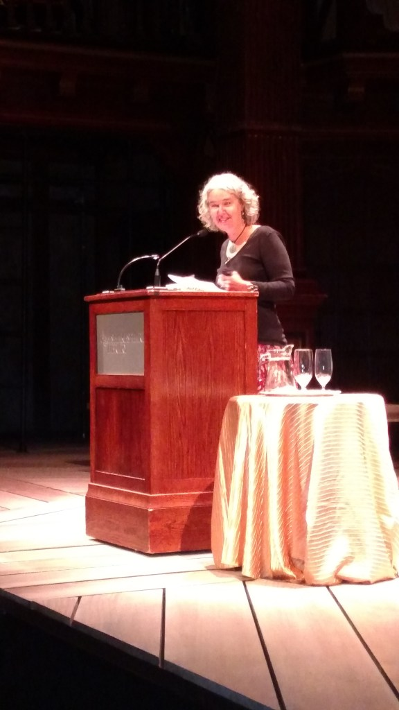 Melissa Tuckey at the Folger. Photo: Daniel Baldwin