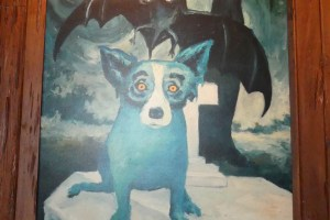 George Rodrigue's 'Blue Dog' painting. Photo: Kathleen Walls