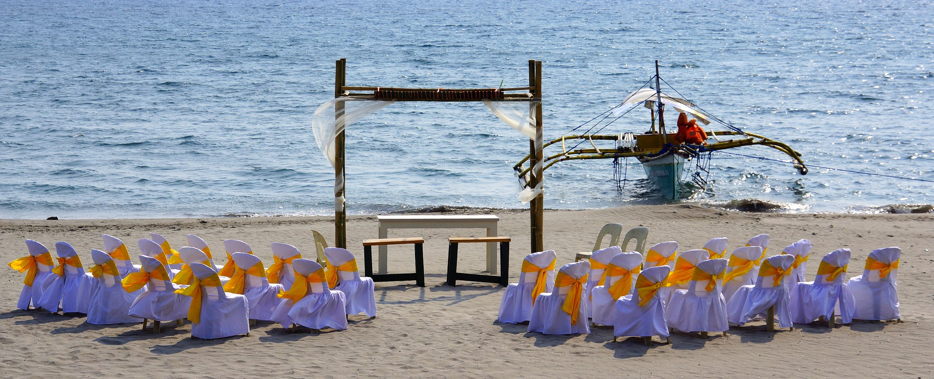 Philippine wedding on the beach.