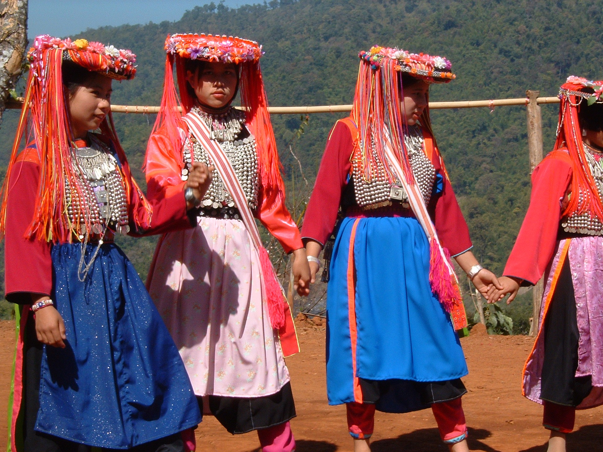Women of a tribe in traditional dress
