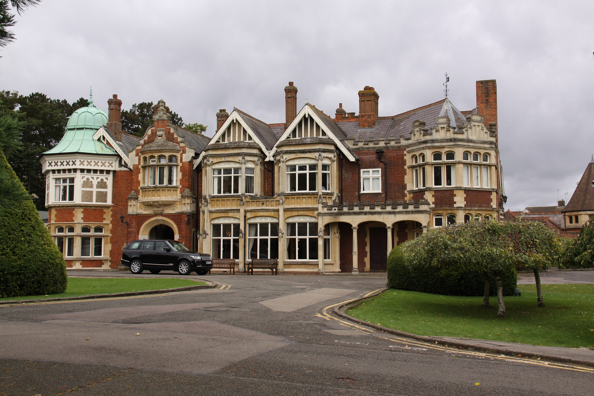 Exterior of Bletchley Park