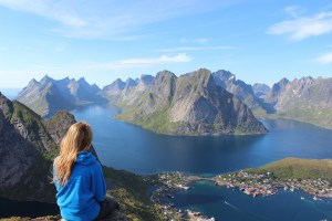 Female mountain travel