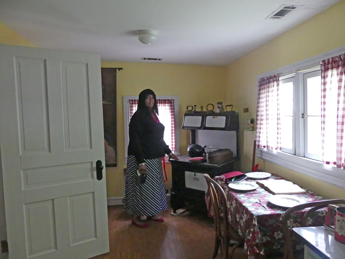 Alma McLemore, President of the African-American Heritage Society in Franklin, is pictured in the kitchen at McLemore House. Photo: Kathleen Walls