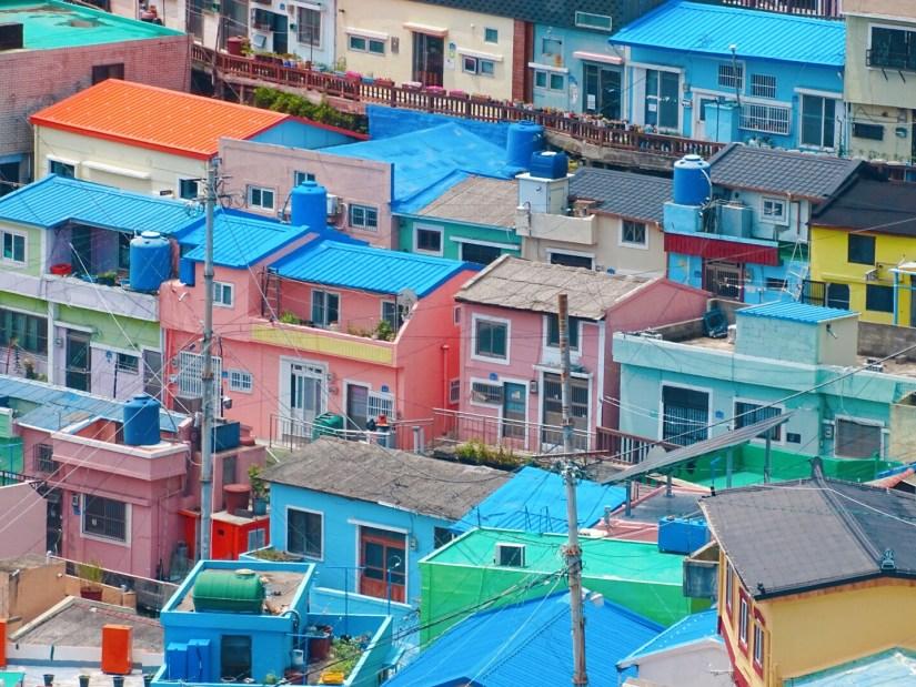 Colorful houses of Busan, South Korea. Photo: Rose Munday