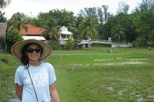 Carmen Ang in Malaysian Langkawi Rice patties