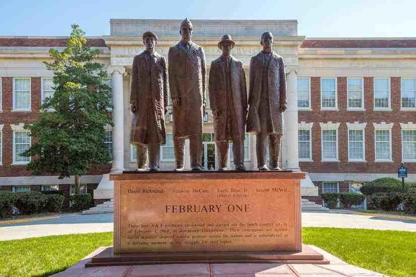 Four in Greensboro NC. Photo courtesy of Civil Rights Trail