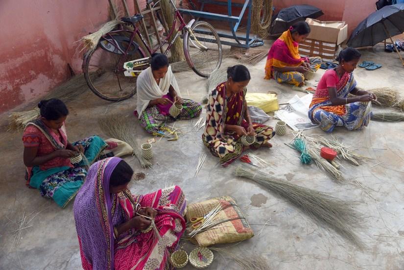 Sabai grass weavers. Photo by Sugato Mukherjee