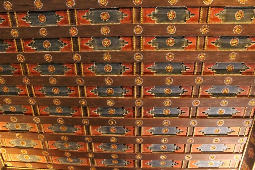 Mudejar ceiling in the Alcazar of Segovia. Photo: Tania Banerjee