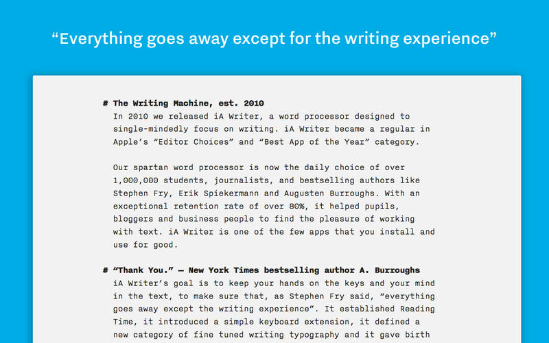 iA Writer 5.0.1 Free Download For Mac
