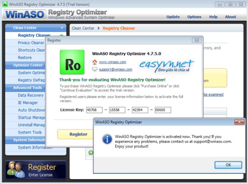 WinASO Registry Optimizer 5.5.0.0 Free Download