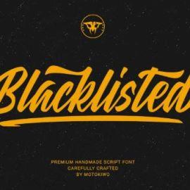Blacklisted Script Font Free Download
