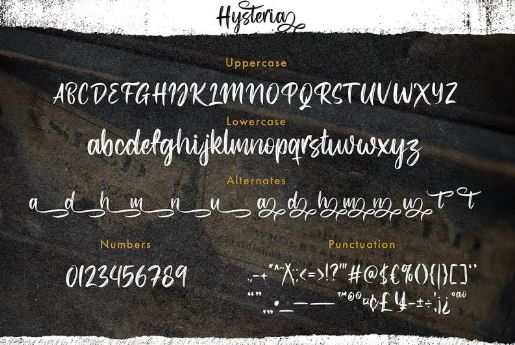 Hysteria Brush Script Font Free Download