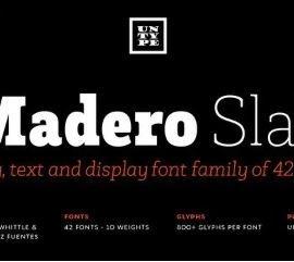 Madero Slab Serif Font Free Download