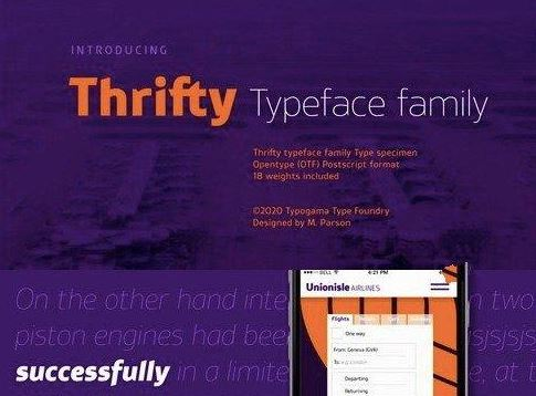 Thrifty Font Family Free Download