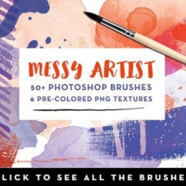 CM Messy Artist Photoshop Brushes 855180 Free Download