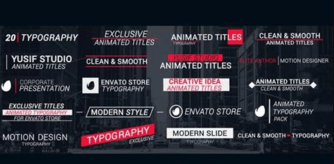 Videohive Title Animation