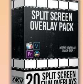 Split Screen Overlay Bundle Pack – Akvstudios