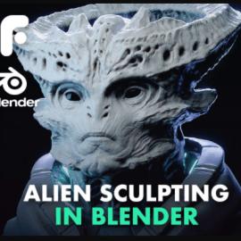 Sculpting an Alien in Blender 2.8 by FlippedNormals