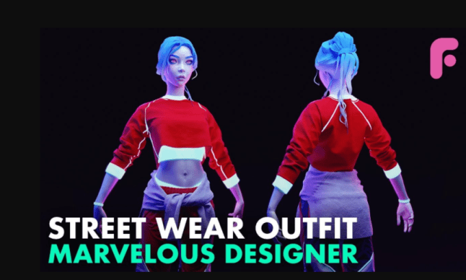Streetwear Outfit in Marvelous Designer by FlippedNormals