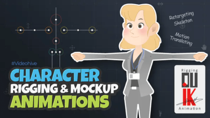 Videohive Character Rigging Mock Up Animations 30582147