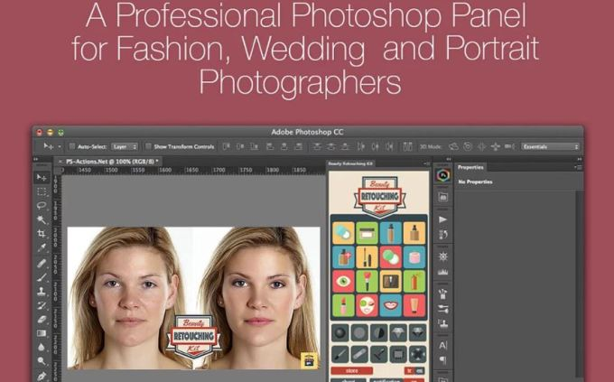 Beauty Retouching Kit 3.0.0 for Photoshop Free Download