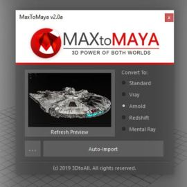 MaxToMaya v2.9 Free Download