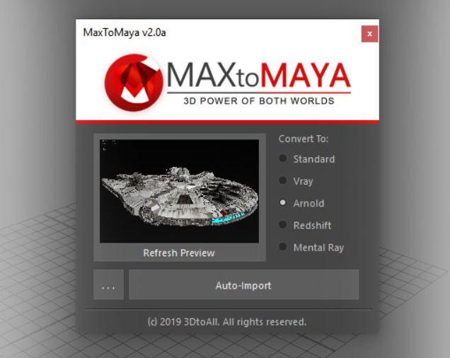 MaxToMaya v2.9