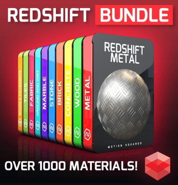 Redshift Material Packs Bundle for Cinema 4D Free Download