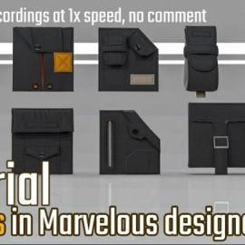 Artstation Pocket and Gloves Tutorials Marvelous Designer, Clo3d by Evgenia Petrova Free Download