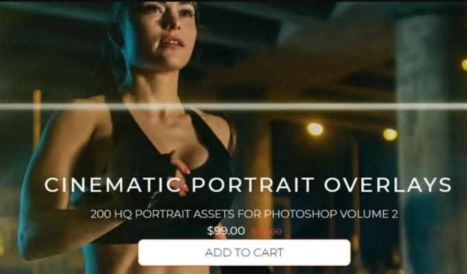ProEDU Master Collection 200 Cinematic Portrait Overlays HD Volume 2