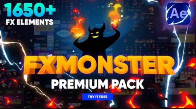 Videohive - FX MONSTER - Premium Pack [1650+ 2D FX Elements] - 32201381