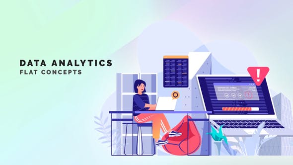 Videohive Data Analytics Flat Concept 33559862 Free Download
