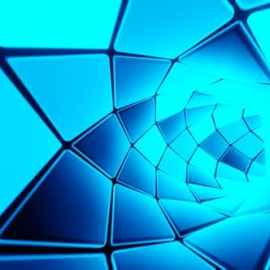 Videohive Hypnotic Endless Tunnel 3d Blue Sci Fi Vj Loop Motion Graphics 33525603 Free Download