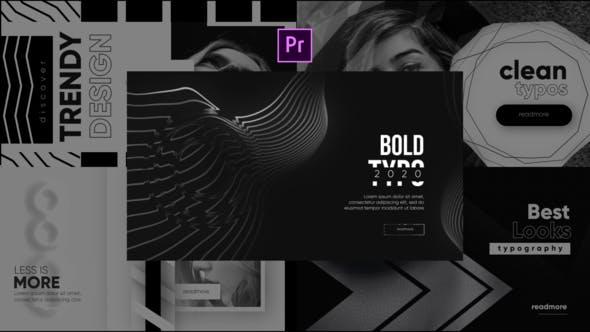 Videohive Monochrome Trendy Typography Free Download