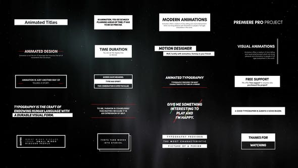 Videohive Typographic Elements For Premiere Pro Essential Graphics 22709580 Free Download