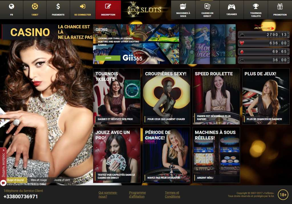 CASINO1XSLOT.COM Bookmaker. Sports betting online I Online