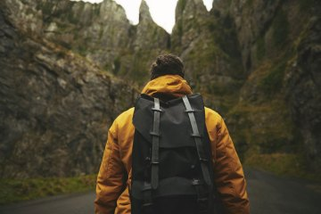 backpack equipment for hitchhiking and travelling