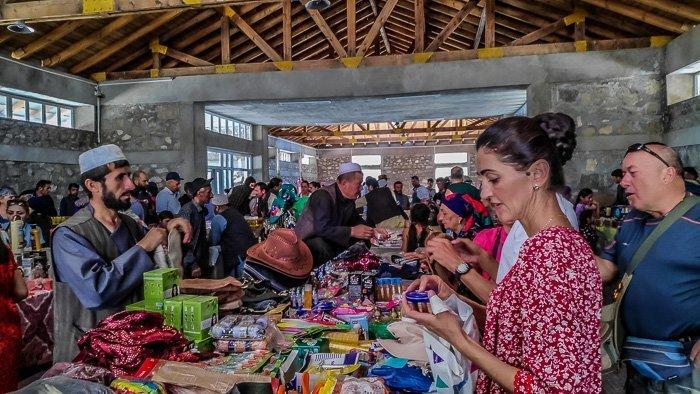 afghan border market in Khorog, Tajikistan