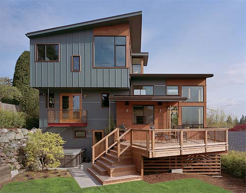 Awesome Modern Home Front View Design Photos - Decoration Design ...
