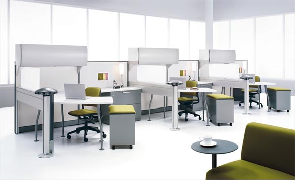 Work Office Settings with Post and Beam from Steelcase