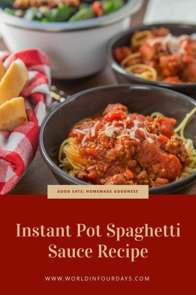 Instant Pot Spaghetti Sauce Recipe