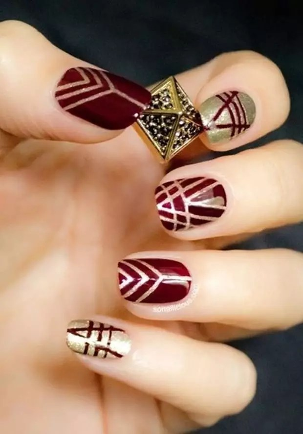 Beautiful Nail Polish Red Art Design Picture