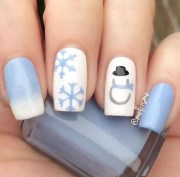whimsical winter manicure