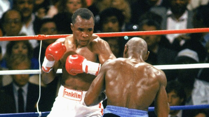 Sugar Ray Leonard defeated Marvin Hagler which would prove to be latter's last fight.