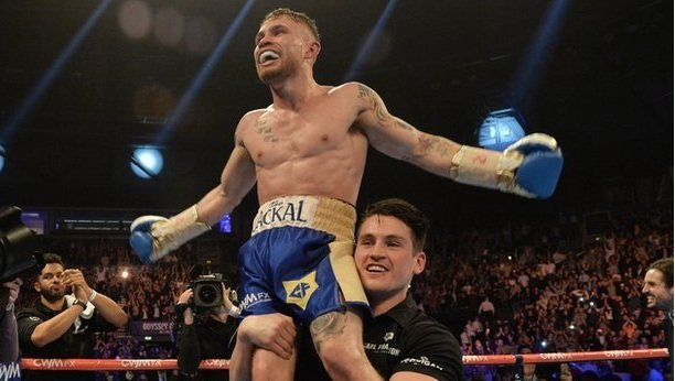 Carl Frampton defeats Chris Avalos in the fifth round in Belfast