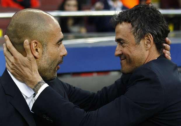 Luis Enrique And Pep Guardiola