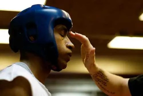 Boxer With Headgear